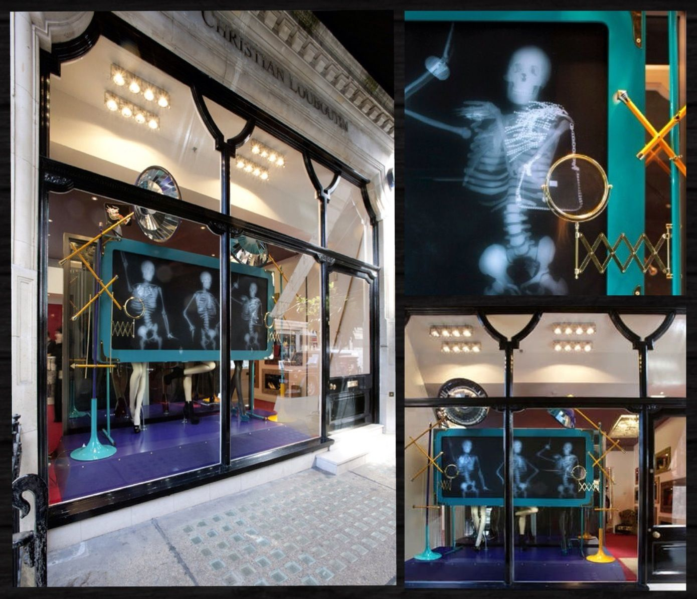 X Ray Themed Fashion Window At Christian Louboutin