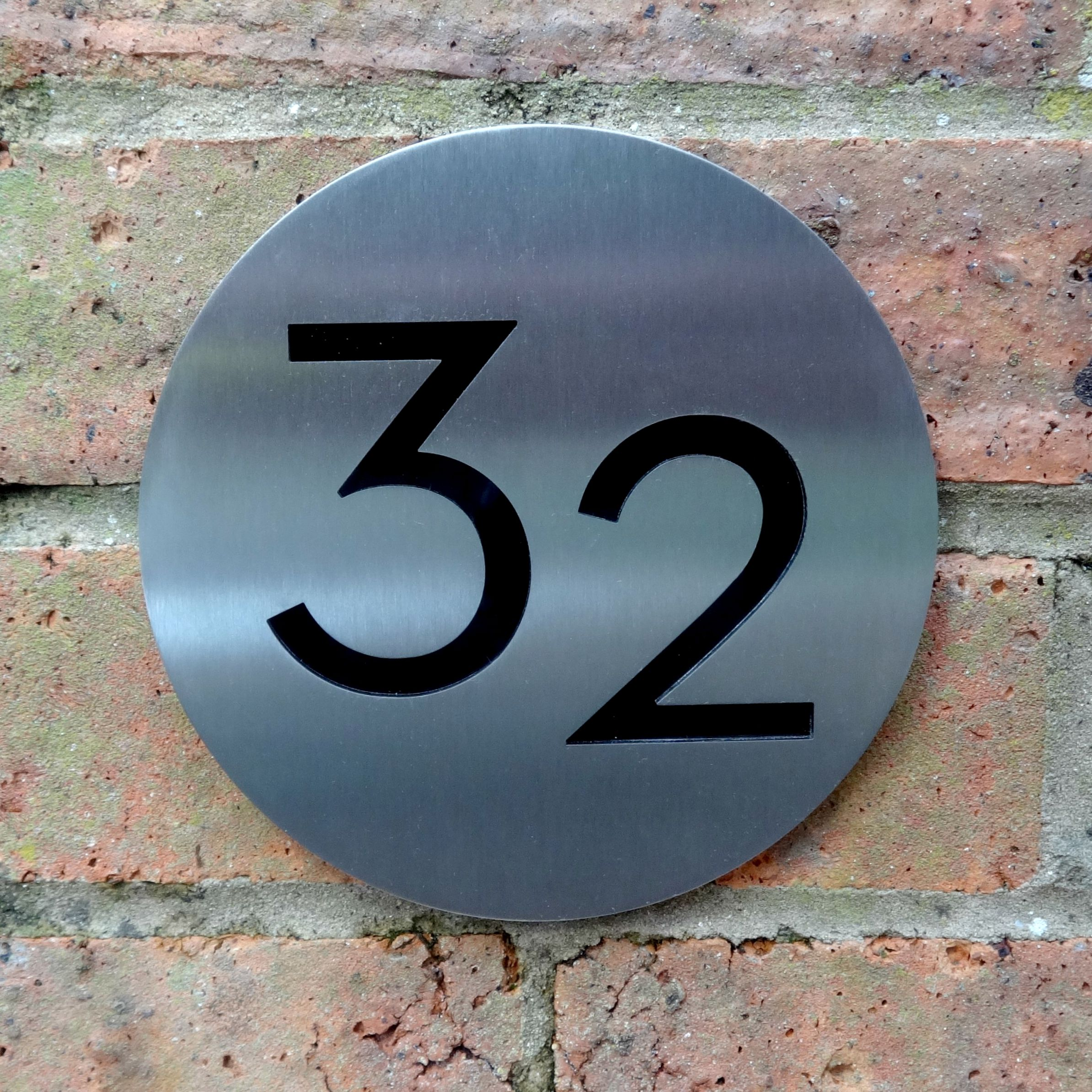 Circular House Number The Number Plaque Comes Complete With A