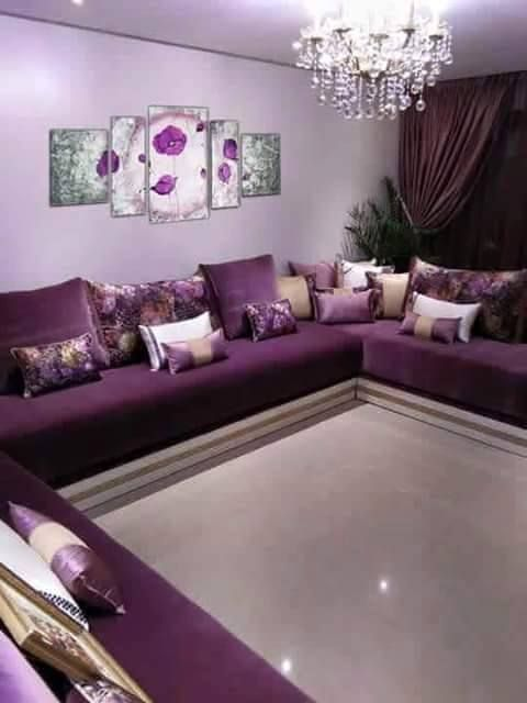 Salon Marocain Mauve Et Beige - onestopcolorado.com -
