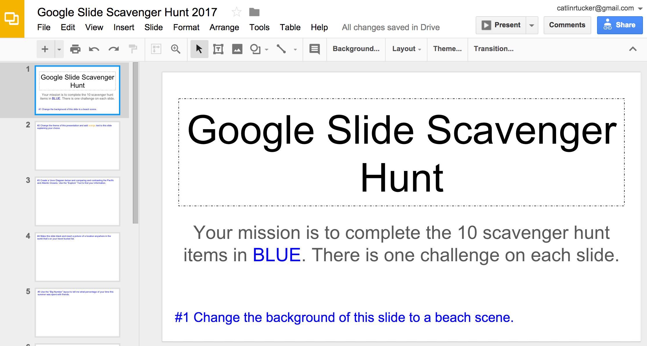 Slide Scavenger Hunt