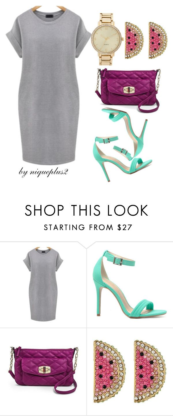 """""""+Look: 1 Dress 3 Ways #1"""" by niqueplus on Polyvore featuring Merona, Betsey Johnson, BP. and plus size dresses"""