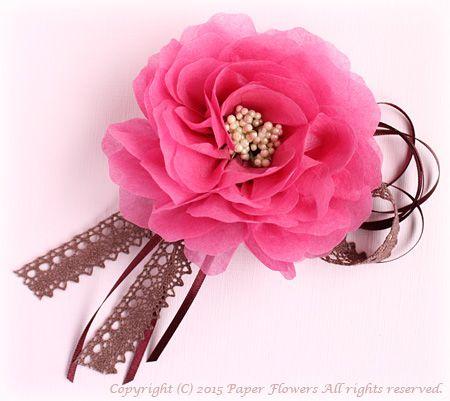 前田京子、お花紙の花、Tissue Paper Flower、ペーパーフラワー