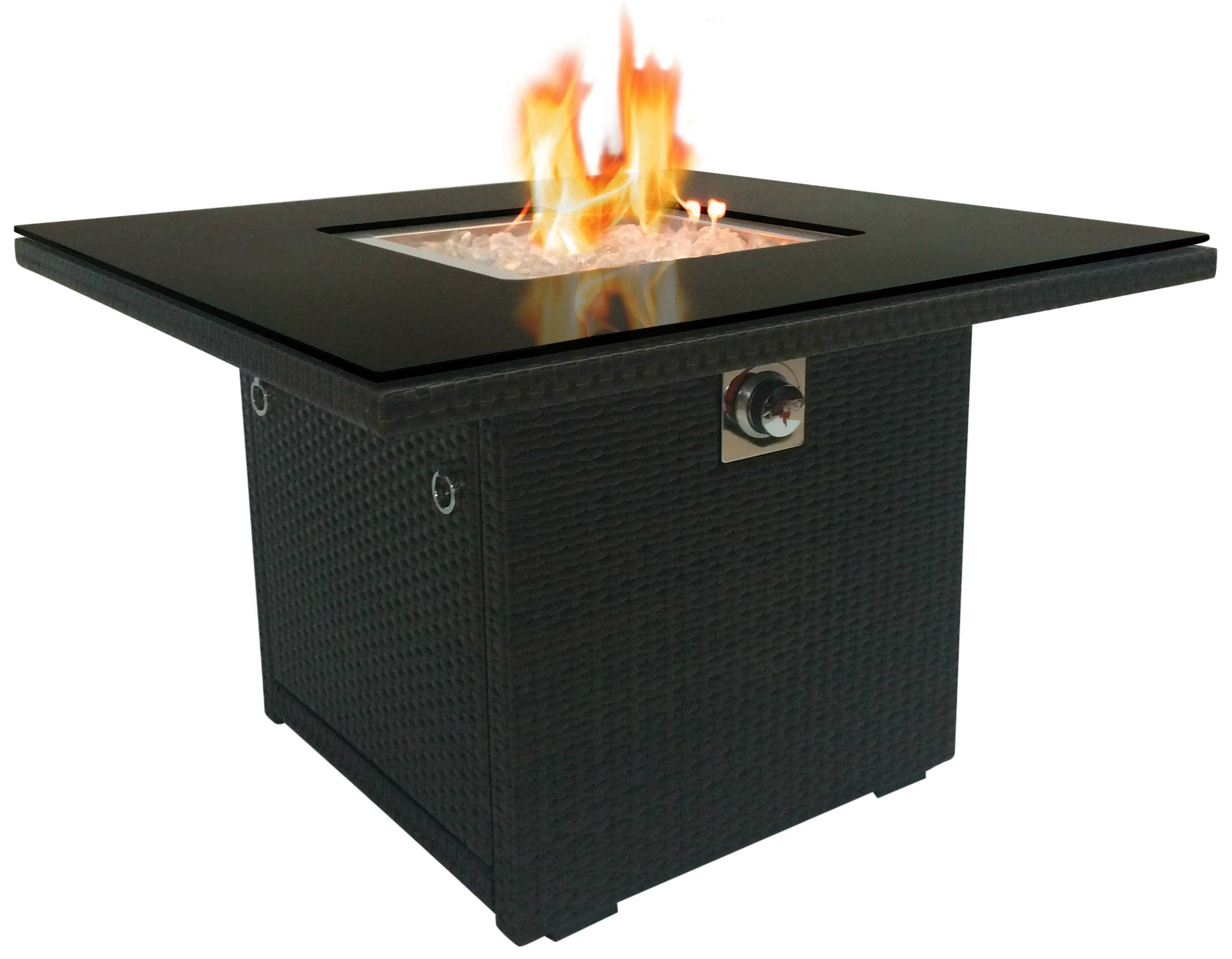 outland fire table 36inch square aluminum frame propane fire pit