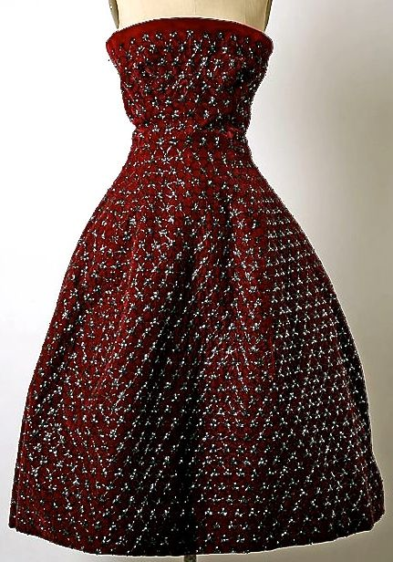 Strapless Christian Dior, 1954