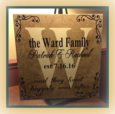 Wedding Season Is Here What Better Present Than A Personalized Tile