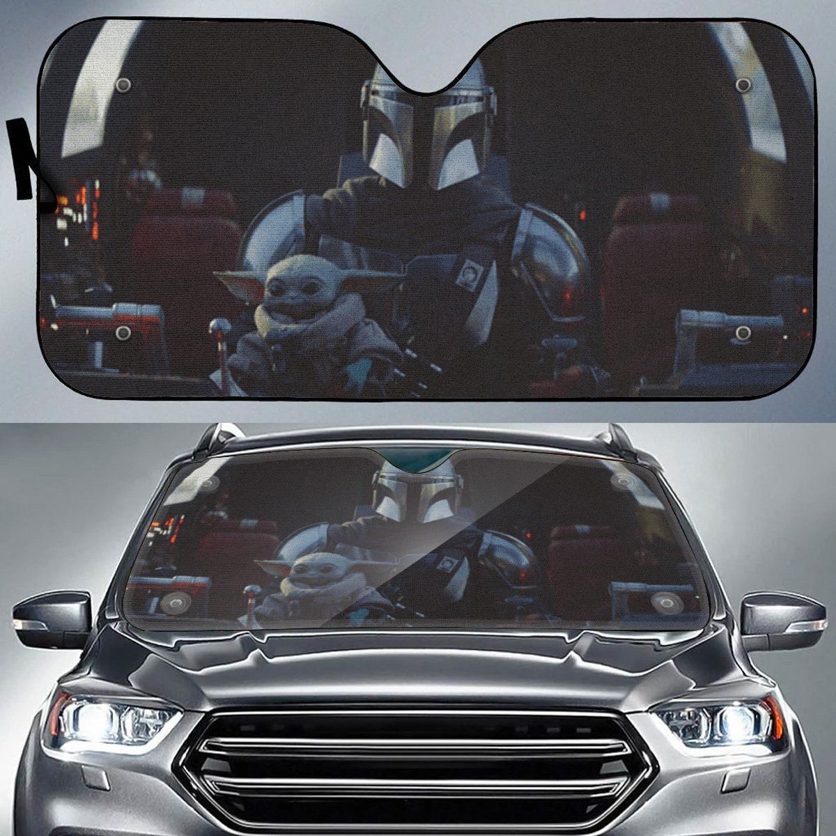 2 Side Window Shades Black Motor Trend Reversible Accordian Car Sun Reflector