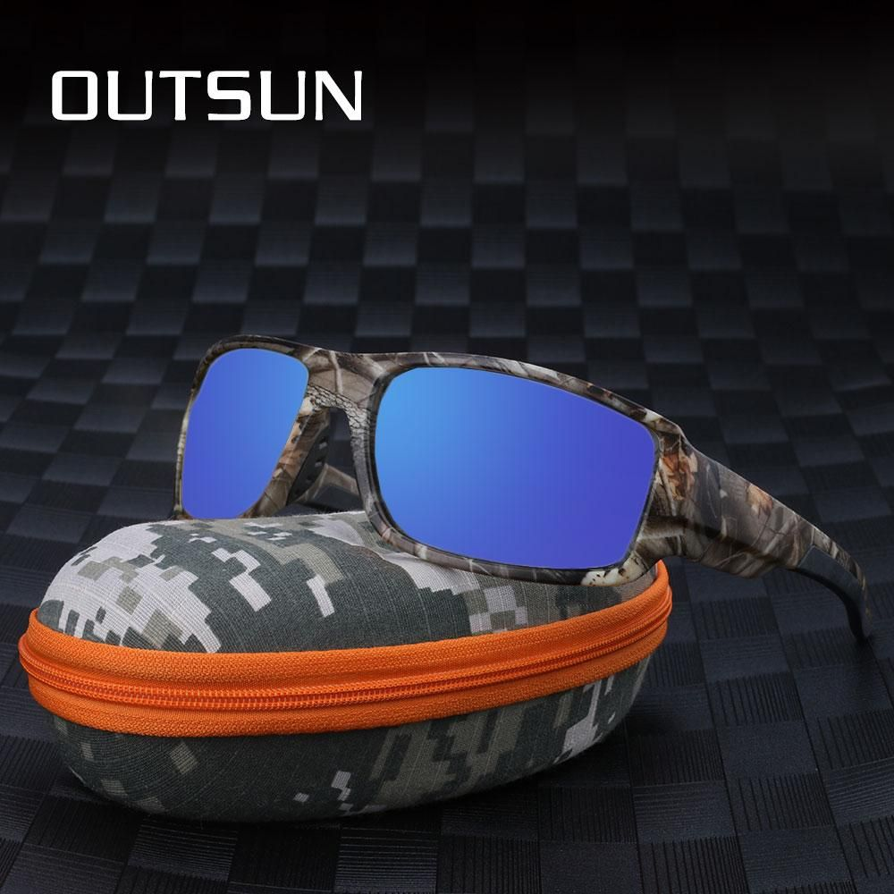 b8b32d380 OUTSUN 2018 Polarized Sunglasses Men Women Sport fishing Driving Sun glasses  Brand Designer Camouflage Frame De Sol