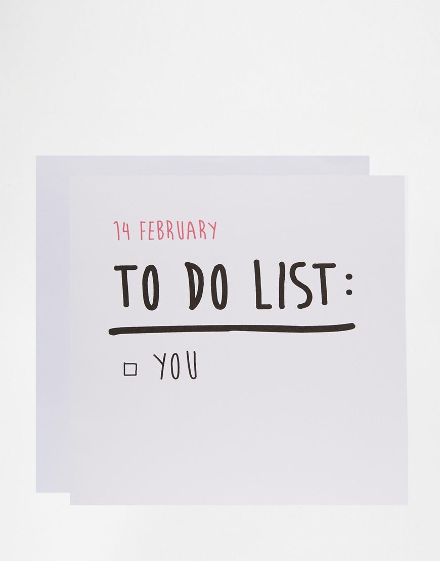 the naughty little card shop to do list valentines card - Naughty Valentine
