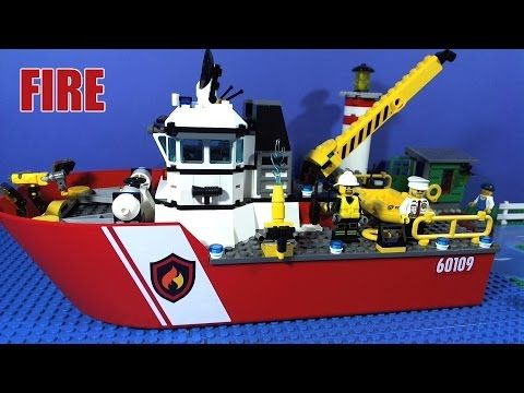 Lego City Fire Boat 60109 Lego Fire Trucks Engines Station