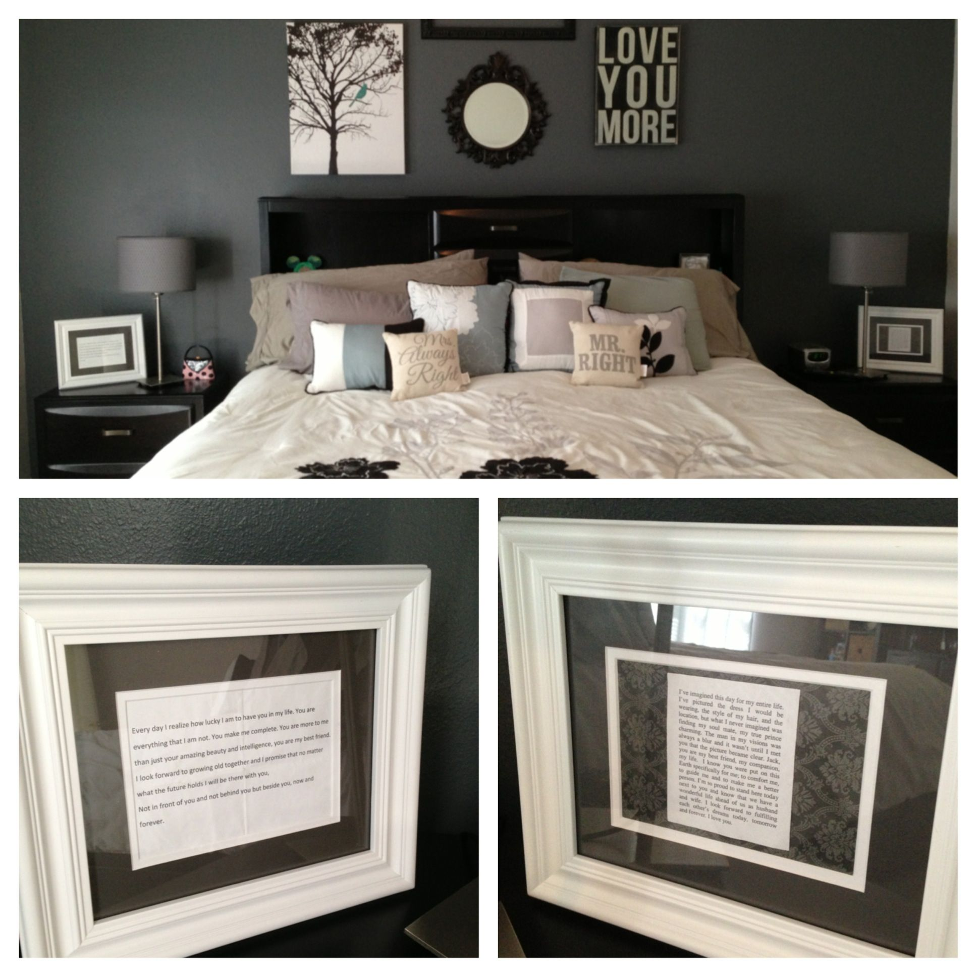 Framed wedding vows for our 1st anniversary gift year 1 for 1st wedding anniversary gift paper