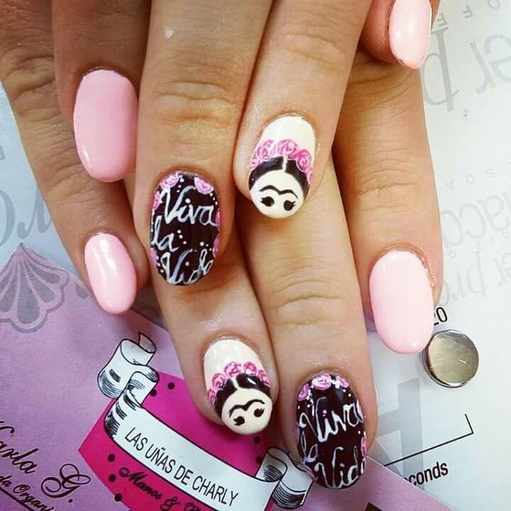 Frida Nails by Las uñas de Charly   Nail Art   Pinterest   Manicure ...