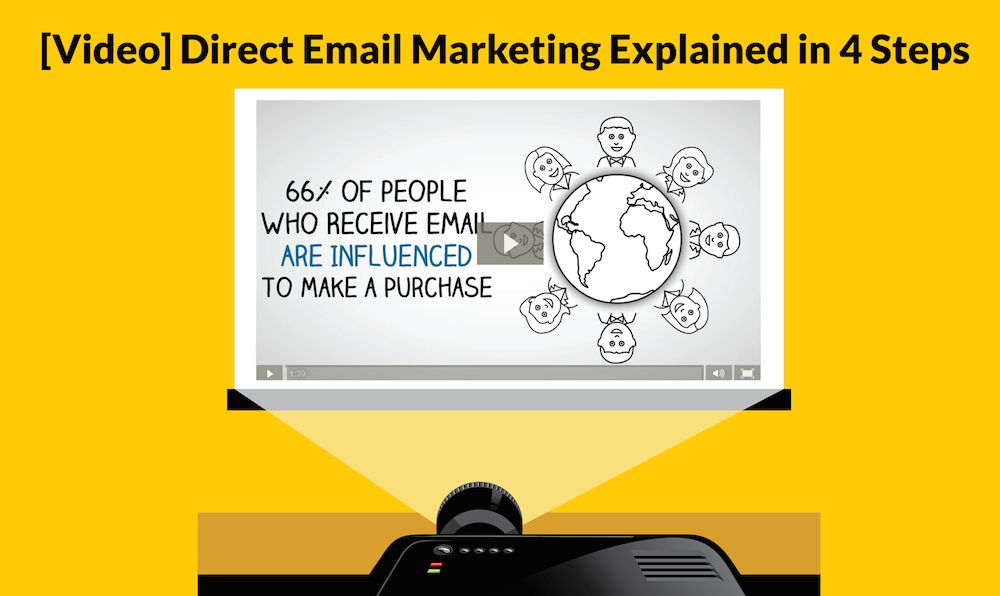 Direct email marketing offers you the opportunity to reach out and attract new customers through email. A 2013 study found that 66% of people who received email marketing messages made a purchase as a result of those emails. It may seem complicated, but it can be narrowed down to just four steps. We outline each step with this video. #directemail
