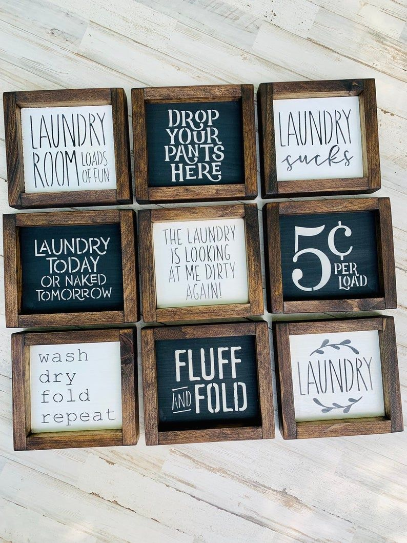 Laundry Room Sign Collection Funny Laundry Signs Laundry Room Wall Decor Laundry Shelf Decor Gift For Mom Laundry Room Signs Laundry Room Decor Signs Laundry Signs