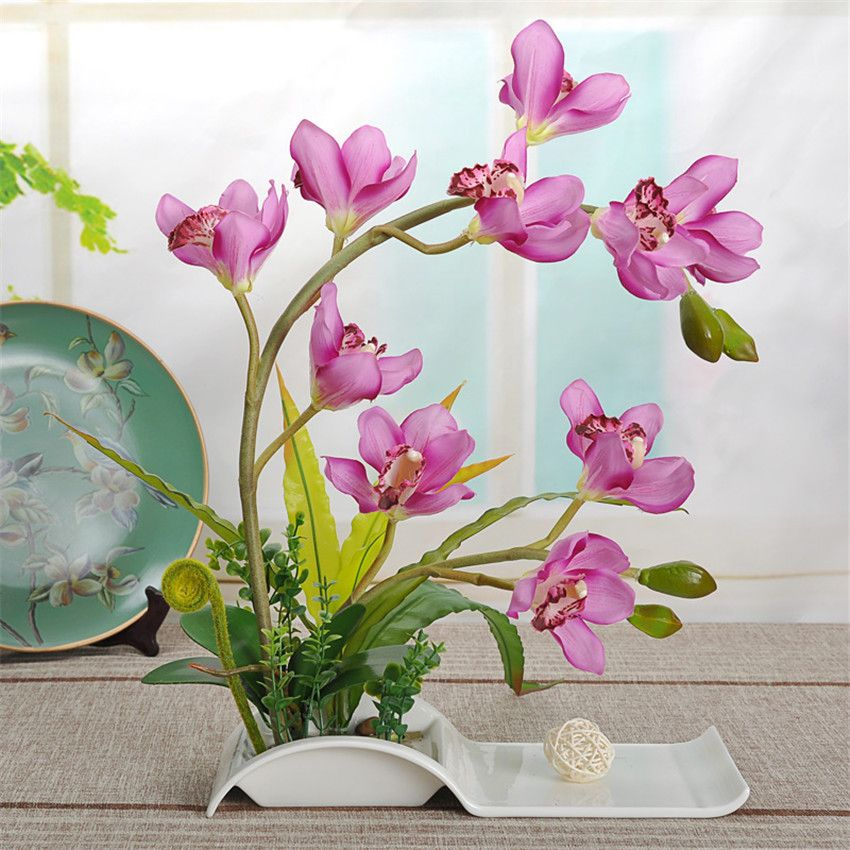 Home Decor Fake Flowers Part - 39: Decorative Flowers Artificial Bonsai With Ceramic Dish For Home Décor U2013 Silk  Stuff, Browsing Most Vibrant, Awesome, Beautiful And Best Silk Flower ...