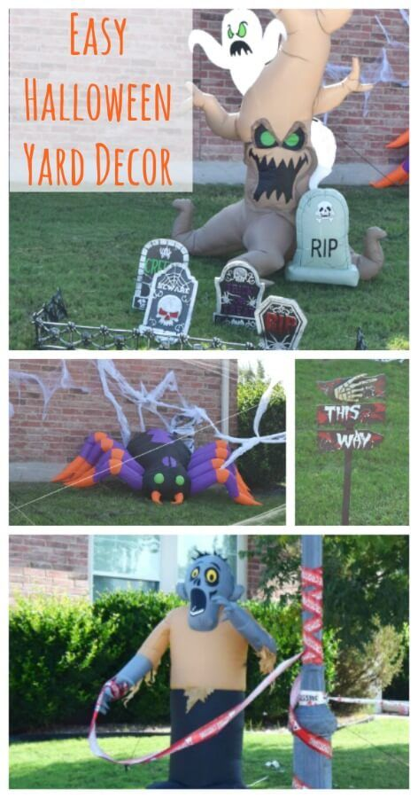 Easy Halloween Yard Decor The TipToe Fairy Blog Posts Pinterest