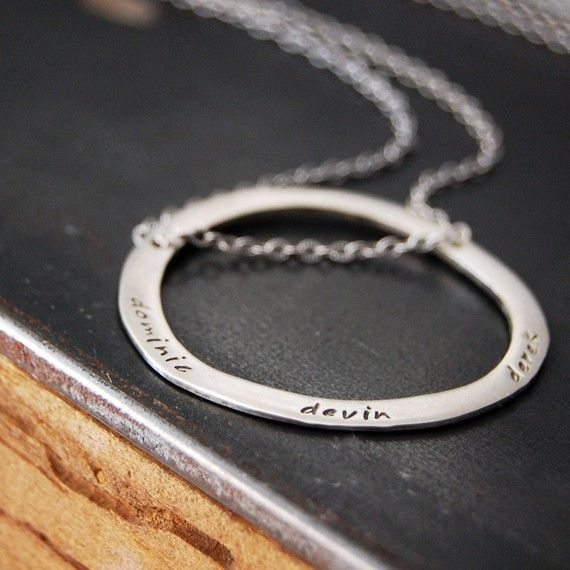 Cercle of my life necklace by SoulPeaces on Etsy