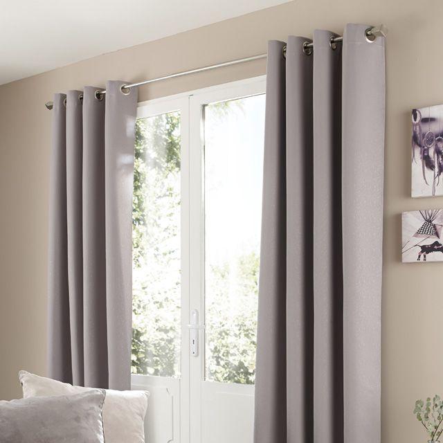 rideau occultant bessy gris clair 140 x