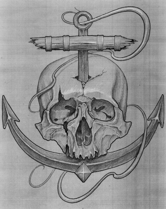 ff5d6c2bfb584 skull anchor tattoo designs - Google Search | anchor/zombie mermaid ...