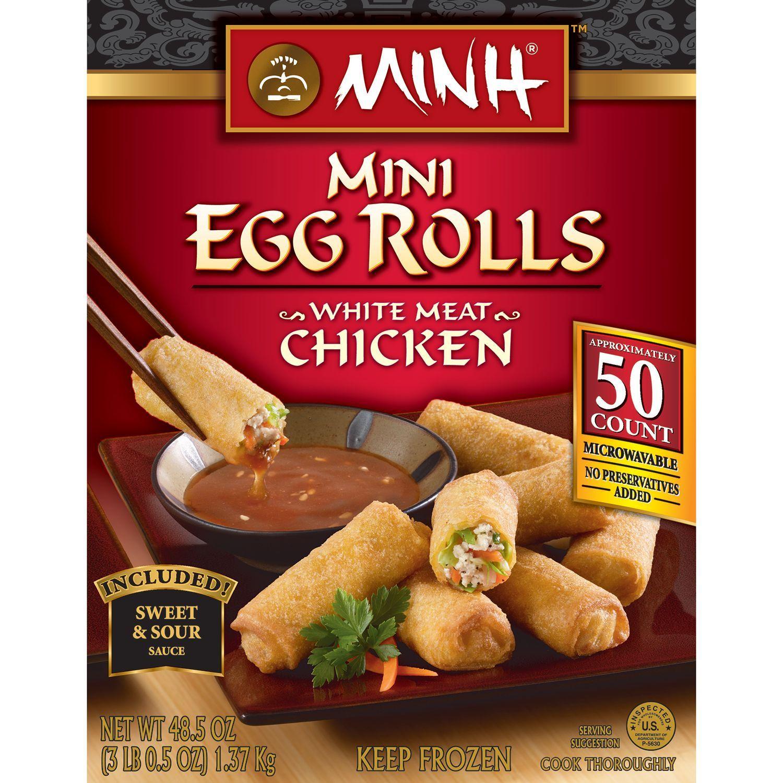 Minh Mini Chicken Egg Rolls 50 Ct Sam S Club Super