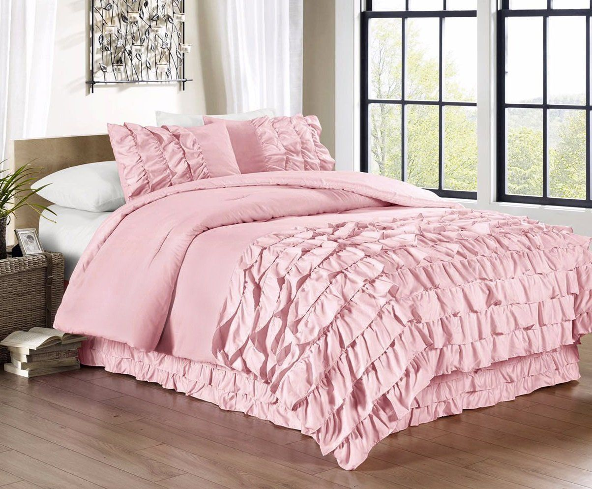 Wide Variety of Pink Bedding Sets Comforter sets, Ruffle