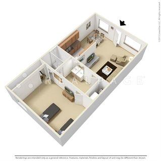 1x1 Mondavi 564 Sq Ft Spacious Floor Plan With A 10 X15