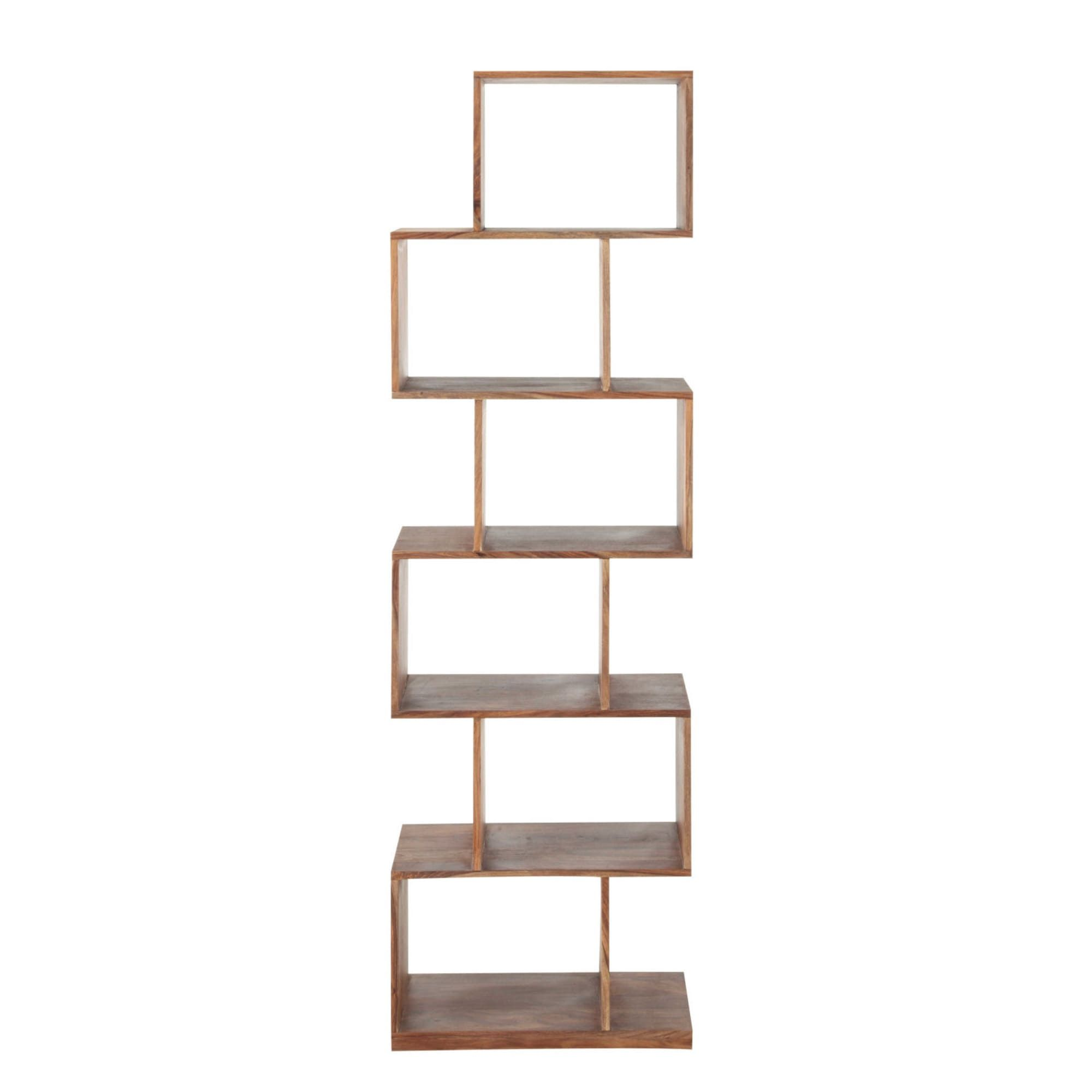 Etagere Destructuree 6 Cases En Sheesham Massif Wood Metal Desk