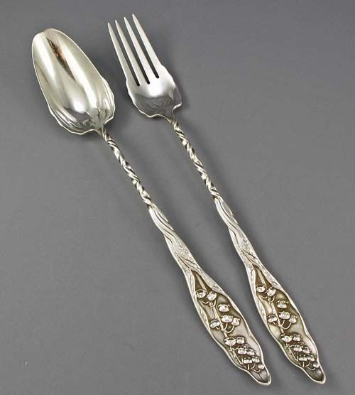 WHITING LILY STERLING SILVER PLACE FORK VERY GOOD CONDITION M S