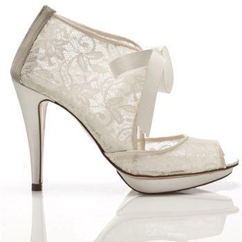 Rainbow Club Gisele Shoes Ivory Satin Lace Bridal Shoes