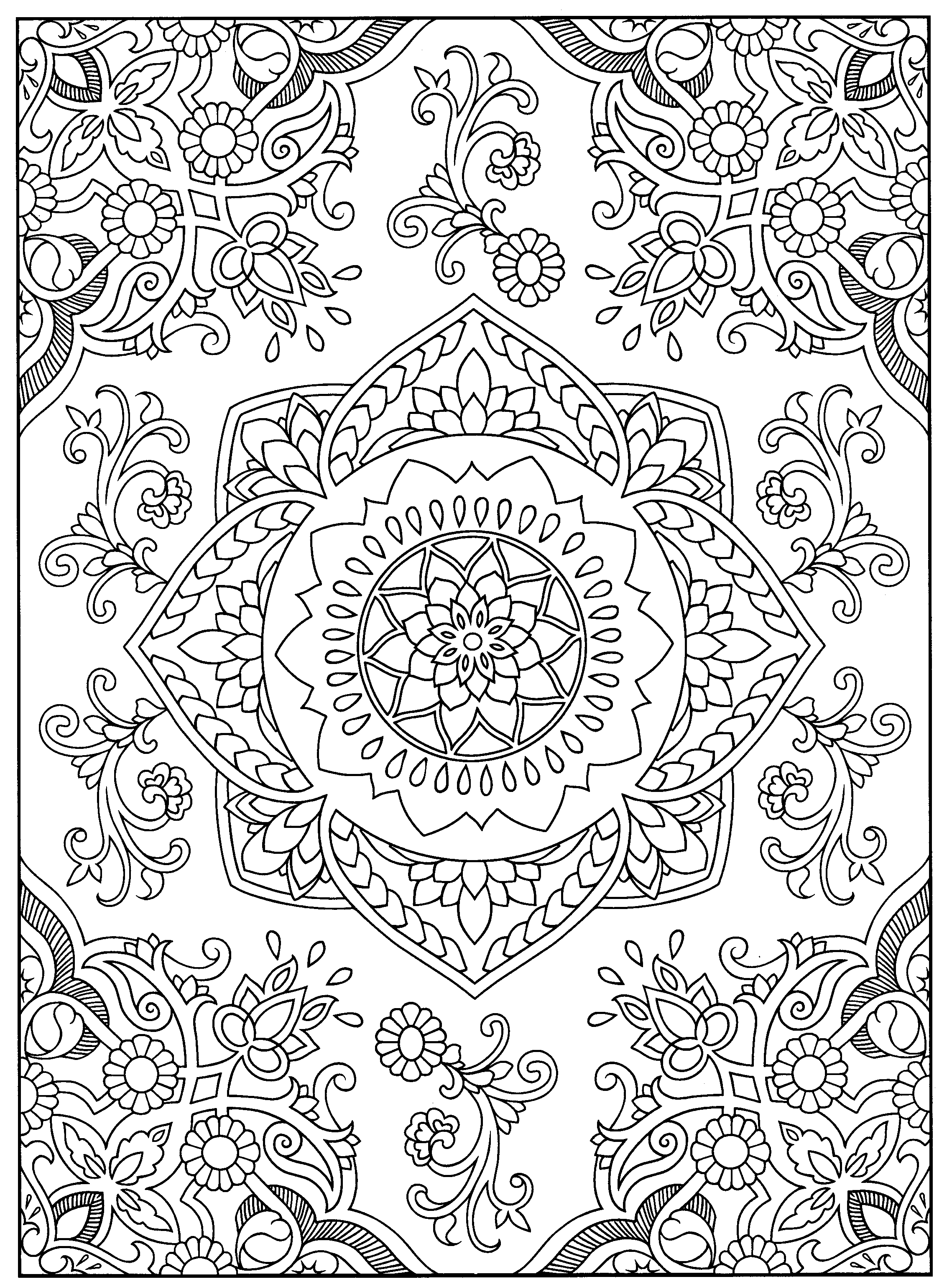 A Favorite From Mehndi Designs By Marty Noble Coloring Pages Henna Designs Doodle Art Posters