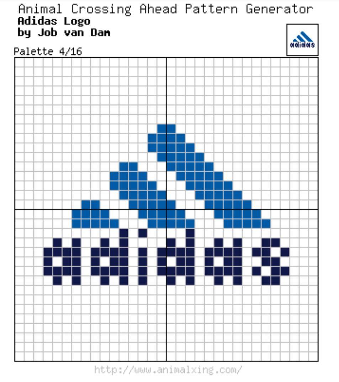 Adidas Logo New Palette 4 16 Animal Crossing Pattern Generator