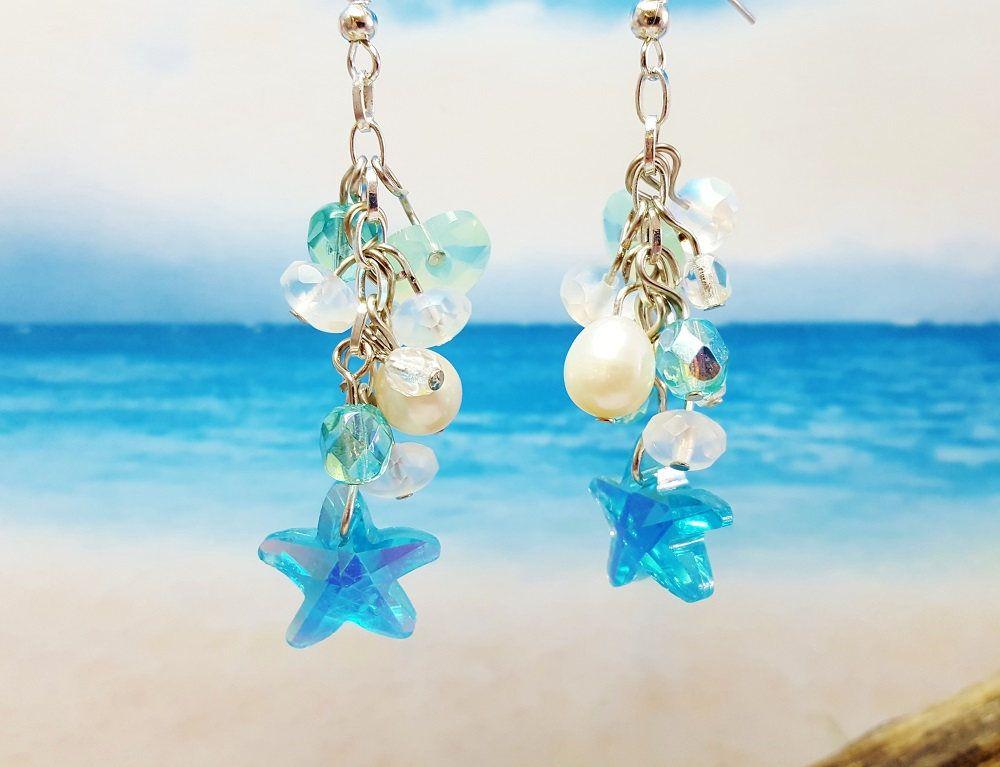 Beach Jewelry Ideas Summer Jewelry Trend Blue Summer Earrings