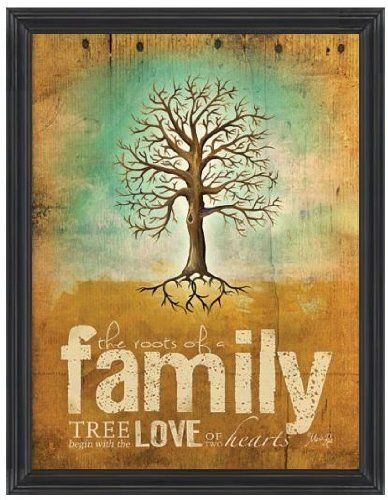 Roots Of A Family By Marla Rae 12 X16 Print With Glass In Distressed Wood Frame Etriggerz Http Www Amazon Com Dp Art Wall Kids Poster Wall Art Family Canvas
