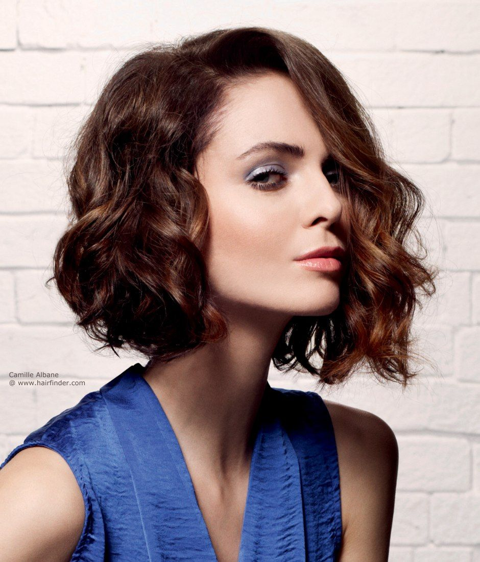 Structured Bob Hairstyles Wavy Bob Hairstyles With Contemporary Wavy Bob Hairstyle With A