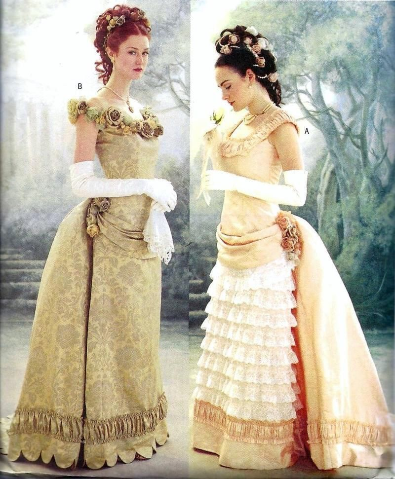 Pattern Historical Costume Butterick 3012 Victorian Ball Gown With ...