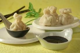 Shrimp dumplings! This is being made today!