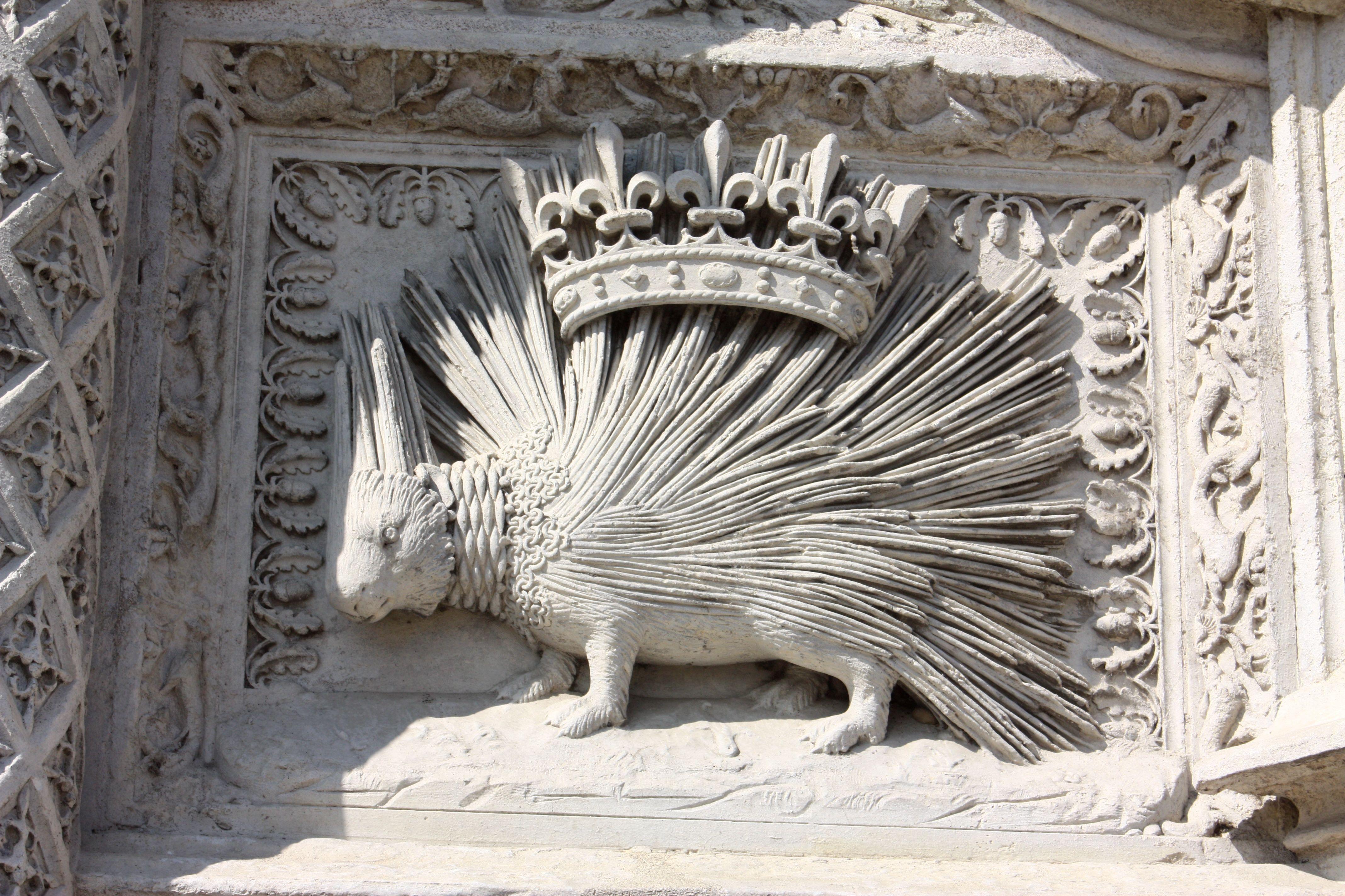 Porcupine stone work blois