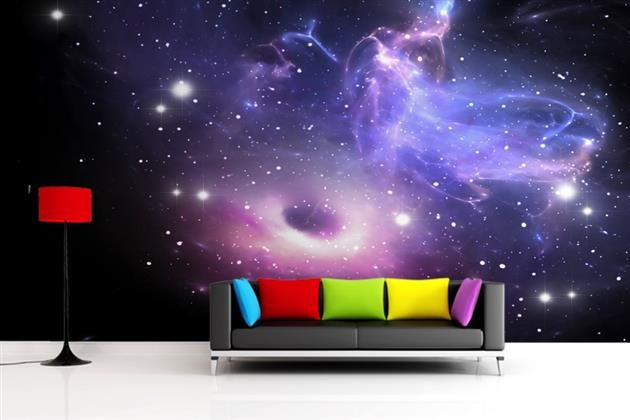 Galaxy wallpaper wall mural 7 design pinterest for Space wallpaper mural