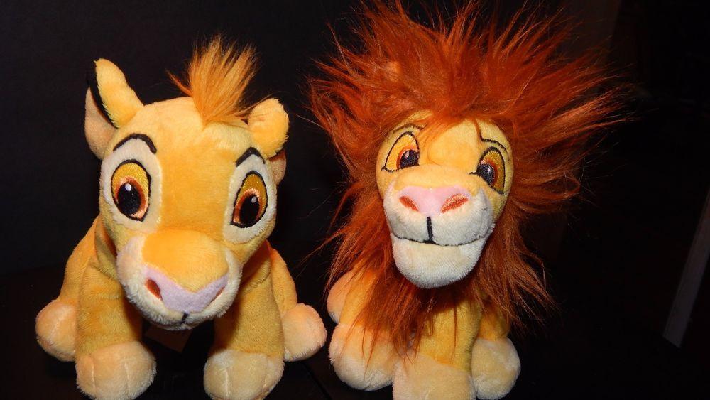 Disney Simba Plush Lot Young and Adult Simba Stuffed Animal Toys 6