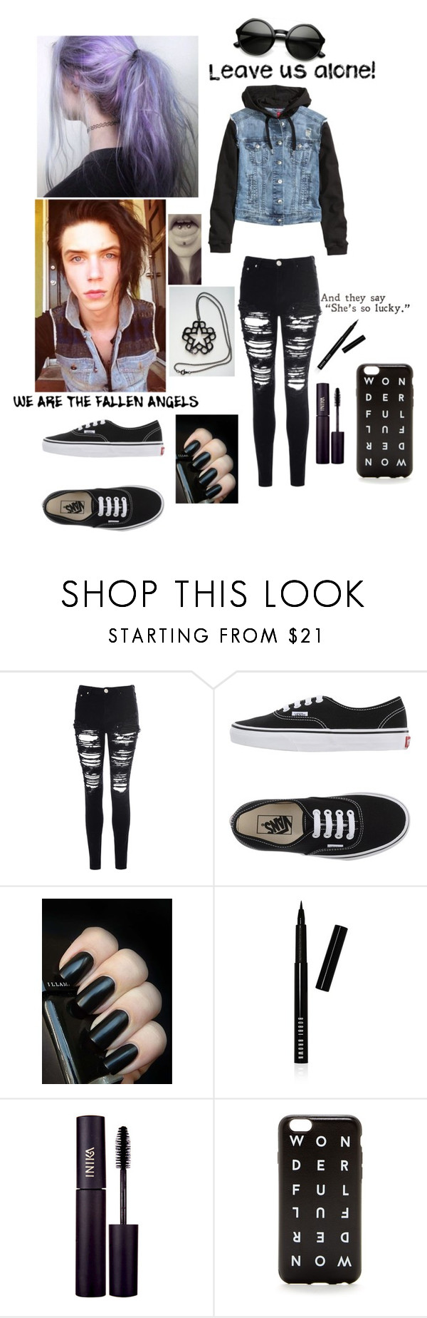 """Date with Andy ❤️"" by lauradirectioner1 ❤ liked on Polyvore featuring H&M, Glamorous, Vans, Bobbi Brown Cosmetics, INIKA and J.Crew"