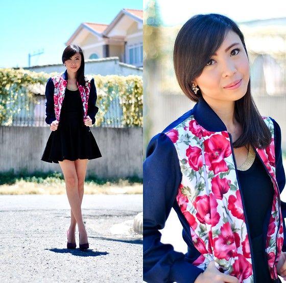 Cesa Ph Floral Varsity Jacket