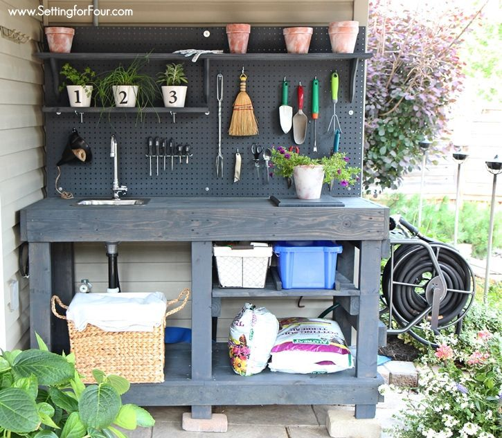 DIY Pallet Potting Bench   Sneak Peek