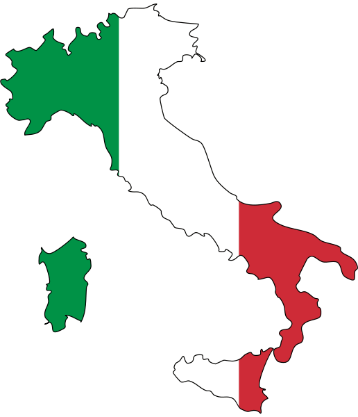 Italy flag map  Flag Maps  Pinterest  Italy