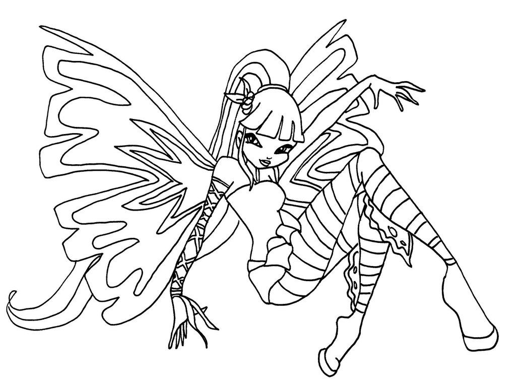 Winx Club Coloring Pages and Book | UniqueColoringPages | Places to ...