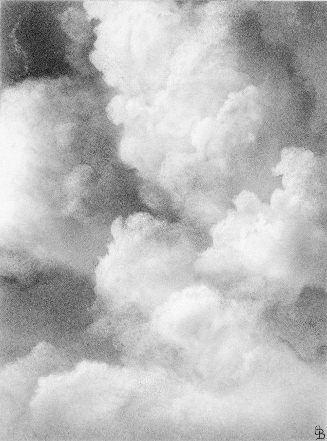 how to draw cirrus clouds in pencil