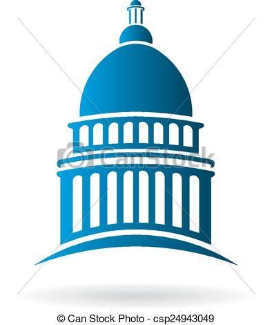 Vector Capitol building Logo - csp24943049