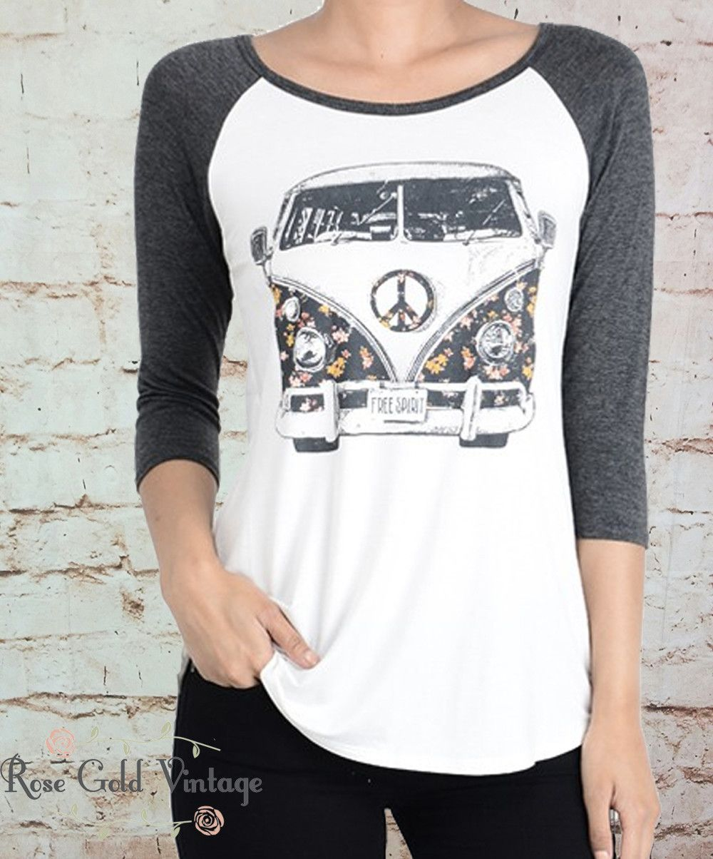 Another variation on our super popular VW Bus tee! We just love the retro  floral
