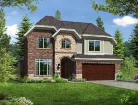 Denali Elevation A with Stone - Pecan Creek Community in Plano, TX