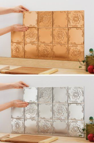 Sunflower Kitchen Backsplash Tin Tiles   Set Of 14 Copper By Collections  Etc $12.97 (13