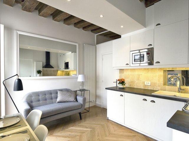 Relooking D Un Petit Appartement Au Coeur Du Marais Elle