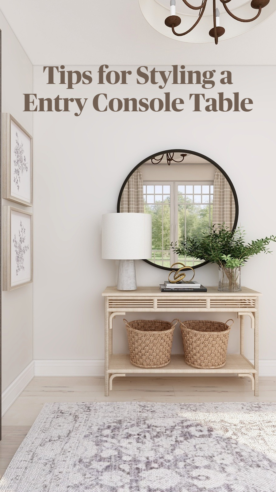 Photo of Tips for Styling a Entry Console Table